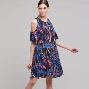 Maeve Anthropologie Elie Open Shoulder Dress